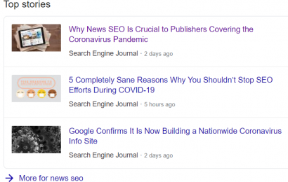 Top Stories for News SEO