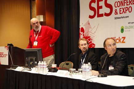 Greg Jarboe speaking at session on Delivering Great Content at SES New York 2011